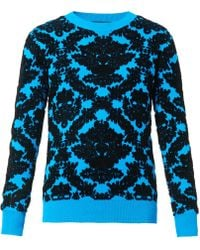 House Of Holland Textured Jacquardknit Sweater - Lyst