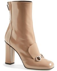 Gucci 'Lillian' Horsebit Mid Shaft Boot - Lyst