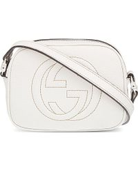 Gucci Leather Logo Cross-Body Bag - Lyst