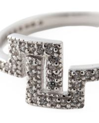 V Jewellery - Deco Inspired 'Maze' Ring - Lyst