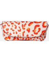 MZ Wallace - Eyeglass Case Tangerine Leopard Saffiano - Lyst