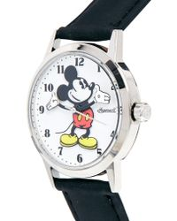Disney - Black Mickey Mouse Ingersoll Classic Watch - Lyst