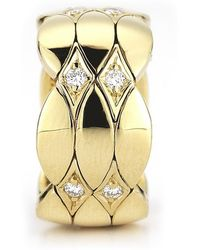 Cartier Pre-owned 18k Yellow Gold Diamond Ring - Lyst