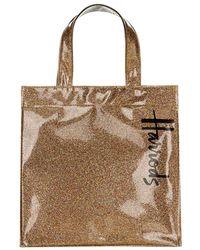 Harrods Small Glitter Shopper Bag - Lyst