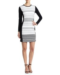Shoshanna Graphic Stretch Knit Yeri Dress - Lyst