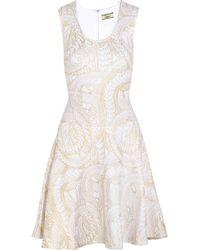 Issa Metallic-Print Stretch-Jersey Dress - Lyst