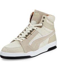 Alexander McQueen X Puma - Slipstream Calf-Hair High-Top Sneaker - Lyst