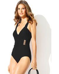 Badgley Mischka Victoria Surplice Mio Swimsuit - Lyst