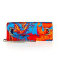 Roberto Cavalli Abstract-Patterned Silk Clutch - Lyst