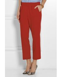 J.Crew Cropped Flannel Straight-leg Pants - Lyst