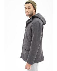 Forever 21 Tweed Utility Jacket - Lyst
