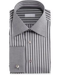 Stefano Ricci French-cuff Stripe Dress Shirt - Lyst