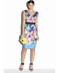 Milly Ombre Floral Print Ballet Wrap Sheath - Lyst
