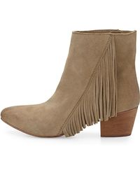 Seychelles Good Advice Suede Fringe Bootie - Lyst