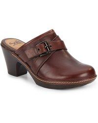 Söfft - Baize Leather Clogs - Lyst