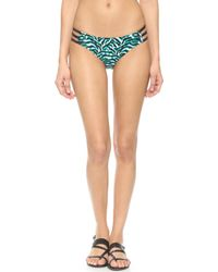 Milly Tiger Print Lanai Bikini Bottoms - Seafoam - Lyst