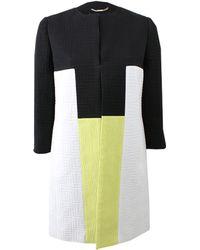 Versace Colorblock Coat - Lyst