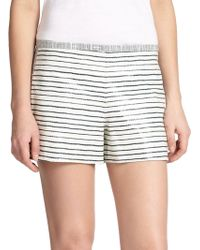 Tory Burch Sorrel Snakeskin-embossed Leather Shorts - Lyst