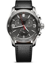 Victorinox - Grey Chronograph Watch, 41mm - Lyst