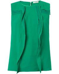 Nina Ricci Vertical Ruffle Silk Blouse - Lyst