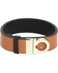 Ferragamo - Gancino Leather Bracelet - Lyst