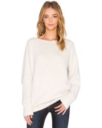 Bella Luxx - Oversized Raglan Sweatshirt - Lyst