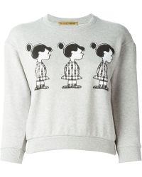 Peter Jensen Violet-Print Cotton Sweatshirt - Lyst