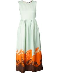 MSGM Mint Dress green - Lyst
