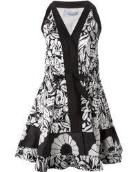Blumarine Flared Dress - Lyst