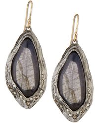 Alexis Bittar Labradorite Drop Earrings with Crystals - Lyst