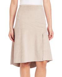 Halston Heritage   Hi-lo Ultrasuede Skirt   Lyst