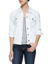 7 For All Mankind Raw-edged Jacket W Pearlized Buttons - Lyst