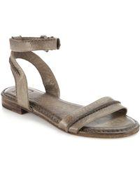 Frye Phillip Leather Sandals gray - Lyst