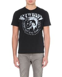 Diesel T-bert Cotton-jersey T-shirt Black - Lyst