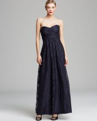 Amsale - Gown Strapless Lace - Lyst