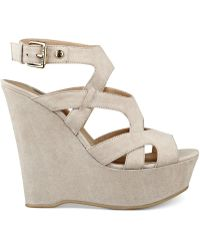G by Guess Women'S Hizza Platform Wedge Sandals - Lyst