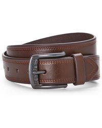 Levi's Logo Buckle Bonded Leather Belt - Lyst