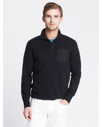 Banana Republic Garment-Dye Mock Pullover - Lyst