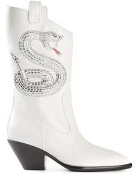 Giuseppe Zanotti Sequin Snake Boots - Lyst