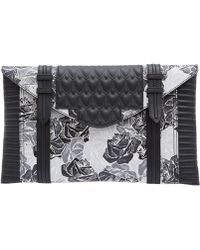 Reece Hudson - Oversized Black And White Floral Bowery Leather Bag - Lyst