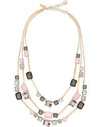 Kate Spade - Neapolitan Triple Strand Necklace - Lyst