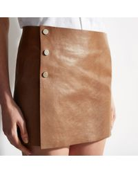 Bally - Leather Skirt - Lyst