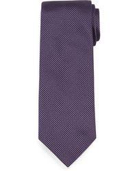 Brioni   Textured Dot-print Silk Tie   Lyst