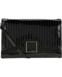 Ted Baker Quilted Patent Lather Crossbody Bag Black - Lyst
