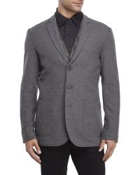 Shades of Grey by Micah Cohen - Marled Graphite Knit Blazer - Lyst