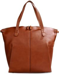 Bonastre - Spacious Leather Tote Bag - Lyst
