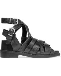 Acne Studios - Lenna Textured-leather Sandals - Lyst