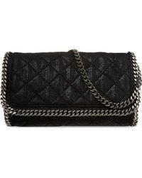 Stella McCartney Falabella Chain Quilted Clutch Black - Lyst