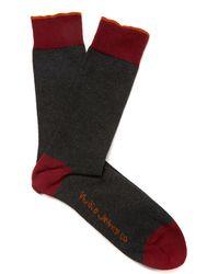 Nudie Jeans - Wine Melange Socks - Lyst