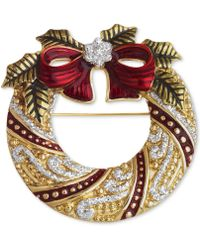 Jones New York - Gold-Tone Wreath Pin - Lyst
